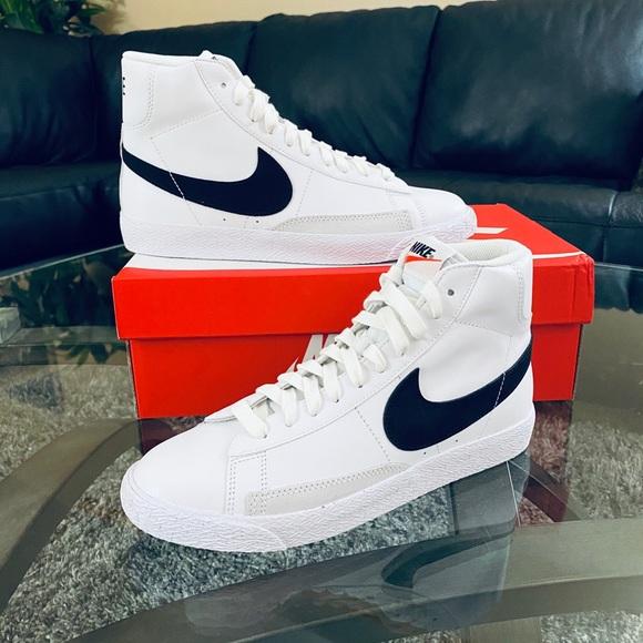 Nike Shoes   Nike Blazer Mid Gs White Black   Poshmark